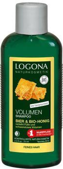 LOGONA Volumen Shampoo Bier & Bio-Honig Kleingröße 75ml MHD 31.08.2020