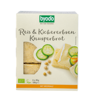 Byodo Reis und Kichererbsen Knusperbrot 6x20g MHD 08.04.2020