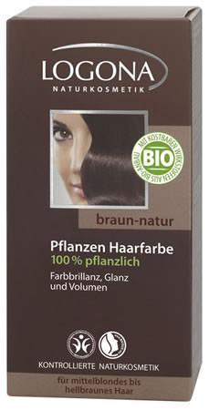 LOGONA Pflanzen-Haarfarbe Henna 080 braun-natur 100g/A MHD 30.04.2020
