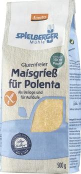 Spielberger Glutenfreier Maisgrieß für Polenta demeter 500g MHD 06.10.2019