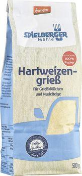 Spielberger Hartweizengrieß, demeter 500g MHD 29.03.2021