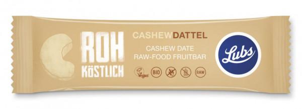 Lubs Rohkost Fruchtriegel Cashew Dattel 47g MHD 10.12.2020