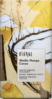 Vivani Weiße Mango Cocos Schokolade 80g/A MHD 31.08.2020