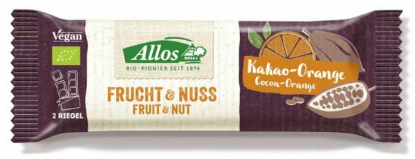 Allos Frucht & Nuss Kakao-Orange Riegel 50g MHD 30.05.2021