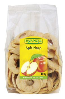 Rapunzel Apfelringe 100g MHD 22.07.2020