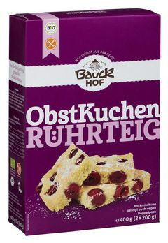 Bauckhof Obstkuchenteig Backmischung, glutenfrei 2x200g MHD 12.05.2020