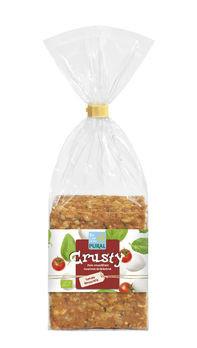 Pural Crusty Tomate-Mozzarella, Gourmet Knäckbrot 200g MHD 03.04.2021