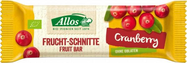 Allos Fruchtschnitte Cranberry 30g MHD 20.06.2021