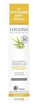 LOGONA Mattierendes Tagesfluid Bio-Bambus & Bio-Hamamelis 30ml MHD 31.01.2021