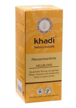 Khadi Pflanzenhaarfarbe Hellblond 100g MHD 30.04.2021