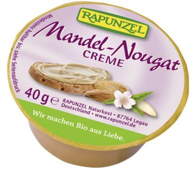 Rapunzel Mandel-Nougat-Creme Portionsschale 40g/A MHD 27.05.2021
