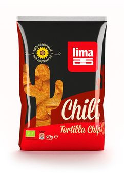 Lima Tortilla Chips Chili 90g MHD 12.07.2021