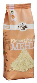 Bauckhof Kichererbsenmehl, glutenfrei 500g (beschädigte Verpackung) MHD 18.07.2021