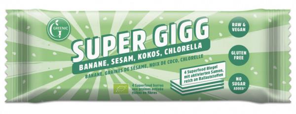 GREENIC Banane, Sesam, Kokos, Chlorella Super Gigg 23g MHD 31.10.2020