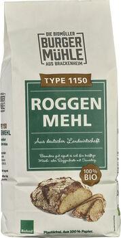 Burgermühle Roggenmehl Type 1150, 1kg MHD 27.05.2021