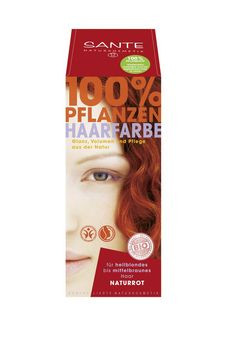 SANTE Pflanzen Haarfarben Pulver naturrot 100g MHD 31.07.2021