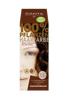 SANTE Pflanzen Haarfarben Pulver maronenbraun 100g MHD 31.08.2021