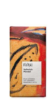Vivani Vollmilch Schokolade mit ganzen Mandeln 100g MHD 31.12.2020