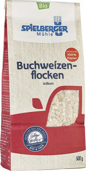 Spielberger Buchweizenflocken 500g MHD 01.02.2022 (beschädigte Verpackung)
