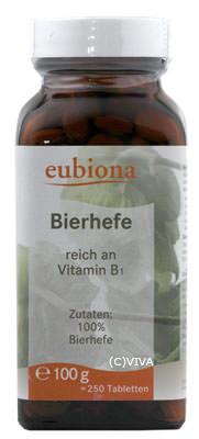 Eubiona Bierhefe-Tabletten 100g MHD 13.12.2020