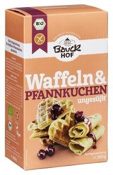 Bauckhof Waffeln & Pfannkuchen ungesüßt Backmischung 200g MHD 07.10.2019