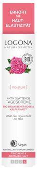 LOGONA Aktiv Glättende Tagescreme Bio-Damaszener Rose & Kalpariane 30ml MHD 31.07.2020