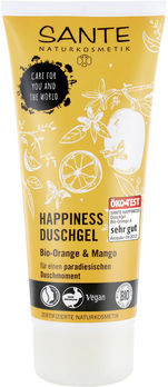 SANTE HAPPINESS Duschgel Bio-Orange & Mango 200ml MHD 31.05.2021