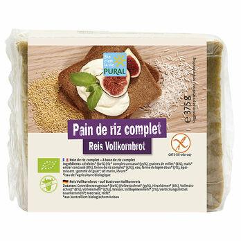 Pural Reis Vollkornbrot glutenfrei 375g MHD 28.08.2021