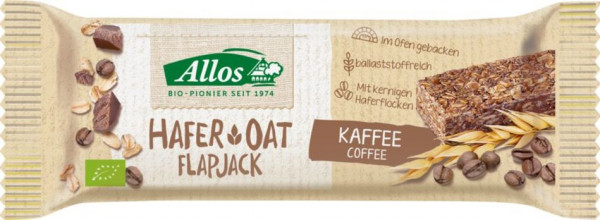 Allos Hafer Flapjack Kaffee 50g MHD 25.10.2020