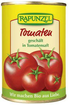 Rapunzel geschälte Tomaten in Tomatensaft 400g (beschädigte Verpackung) MHD 05.08.23