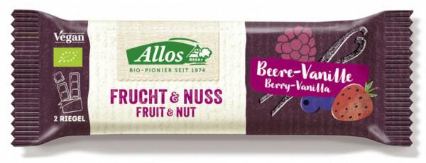 Allos Frucht & Nuss Beere-Vanille Riegel 50g MHD 14.08.2021