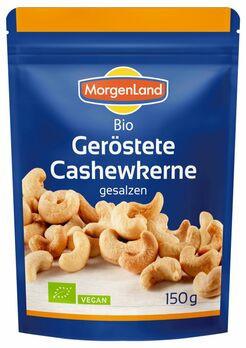 MorgenLand Geröstete Cashewkerne gesalzen 150g MHD 30.04.2021