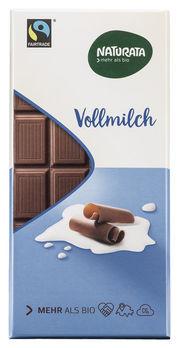 Naturata Chocolat Vollmilch Schokolade 100g MHD 27.08.2021