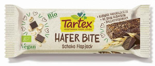 Tartex Hafer Bite Schoko Flapjack 50g MHD 23.08.2021