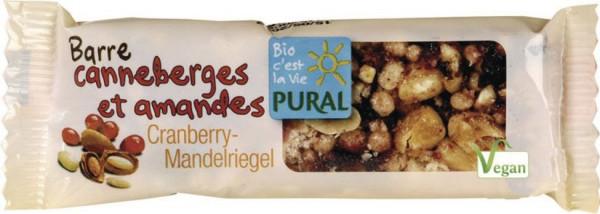 Pural Cranberry-Mandelriegel 30g MHD 01.10.2021