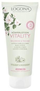 LOGONA Körperlotion VITALITY Wildrose & Traube 200ml MHD 31.05.2020