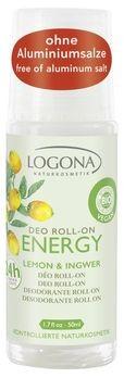 LOGONA Deo Roll-on ENERGY Lemon & Ingwer 50ml MHD 31.01.2020
