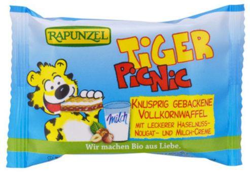 Rapunzel Tiger-Picnic-Vollkornwaffel mit Füllung 15g MHD 03.11.2020