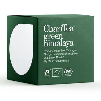ChariTea green himalaya Pyramidenbeutel 10 x 2g (beschädigte Verpackung) MHD 24.04.2023