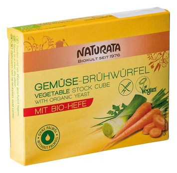 Naturata Gemüsebrühwürfel mit Bio-Hefe 6 Stück MHD 09.11.2020