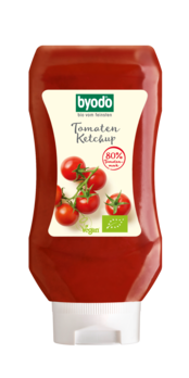 Byodo Tomaten Ketchup, 80% Tomate, PET-Flasche 300ml MHD 28.03.2020