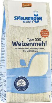 Spielberger Weizenmehl Type 550 demeter 1kg (beschädigte Verpackung) MHD