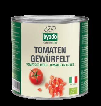 Byodo Tomaten gewürfelt 2,55kg (beschädigte Verpackung) MHD 31.12.2022