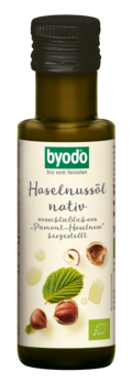 """Byodo Haselnussöl, nativ aus """"Piemont Haselnuss"""" 100ml MHD 30.07.2020"""