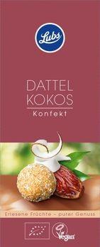 Lubs Dattel Kokos Konfekt 80g MHD 17.03.2020