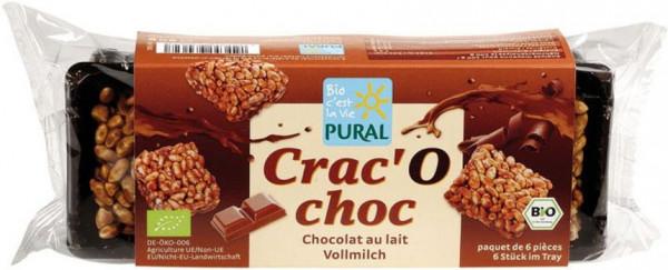 Pural Crac'O Choc Puffreis Schoko-Happen mit Vollmilchschokolade 80g MHD 12.05.2021