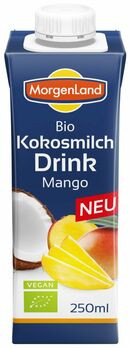 MorgenLand Kokosmilch Drink Mango 250ml MHD 18.01.2021