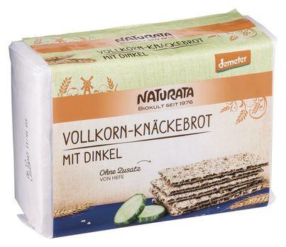 Naturata Vollkorn-Knäckebrot mit Dinkel, demeter 250g (beschädigte Verpackung) MHD
