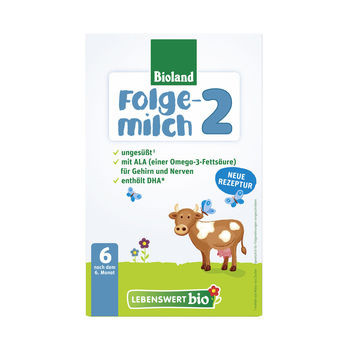 Lebenswert Bio-Folgemilch 2 Bioland 500g MHD 12.04.2021
