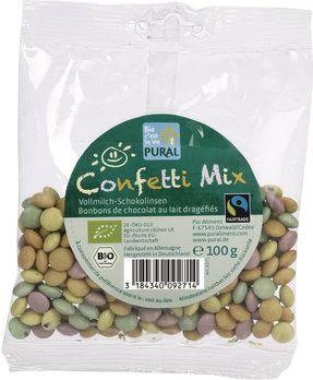 Pural Confetti Mix Mini-Schokolinsen 100g MHD 15.10.2021